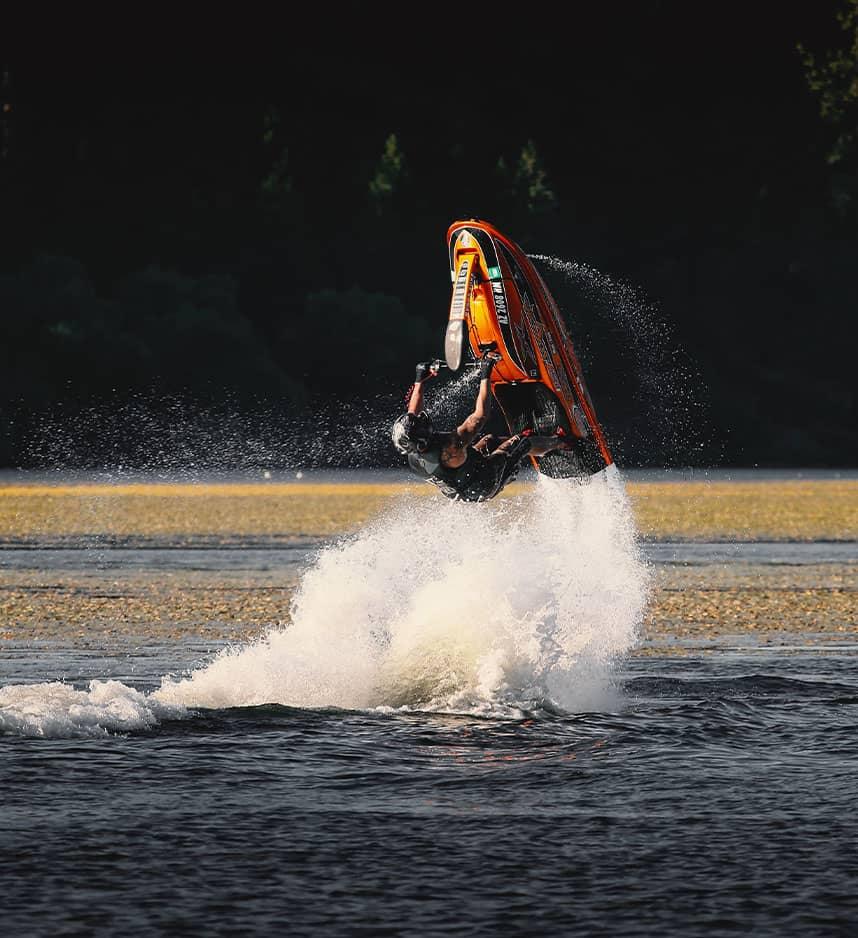 jet ski rider perfroming tricks